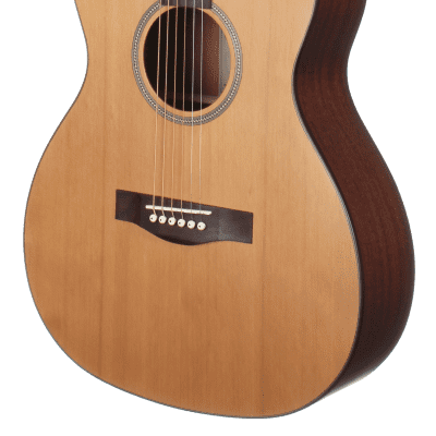 Teton STG105NT 105 Series Grand Concert Western Red Solid Cedar Top 6-String Acoustic Guitar-Natural