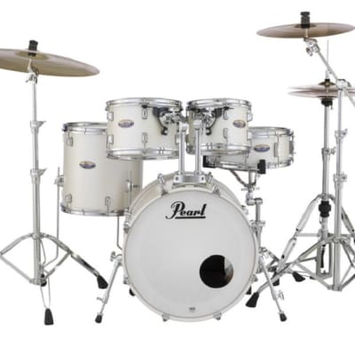 Pearl Decade Maple White Satin Pearl 20x16/10x7/12x8/14x14/14x5.5 Shell Pack Drums + HWP930 Hardware