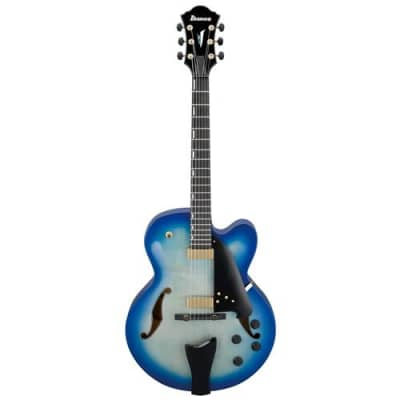 Ibanez AFC Contemporary Archtop AFC155 6-String Electric Guitar with Case, Spruce Top, Flamed Maple Back and Sides, 20 Frets, Set-In Neck, Bound Ebony