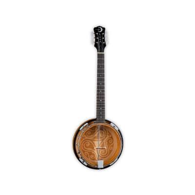 Luna Guitars 6-String Celtic Banjo w/ Laser Etched Trinity for sale