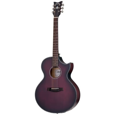 Schecter Orleans Stage Acoustic Electric Guitar - Vampyre Red Burst Satin for sale