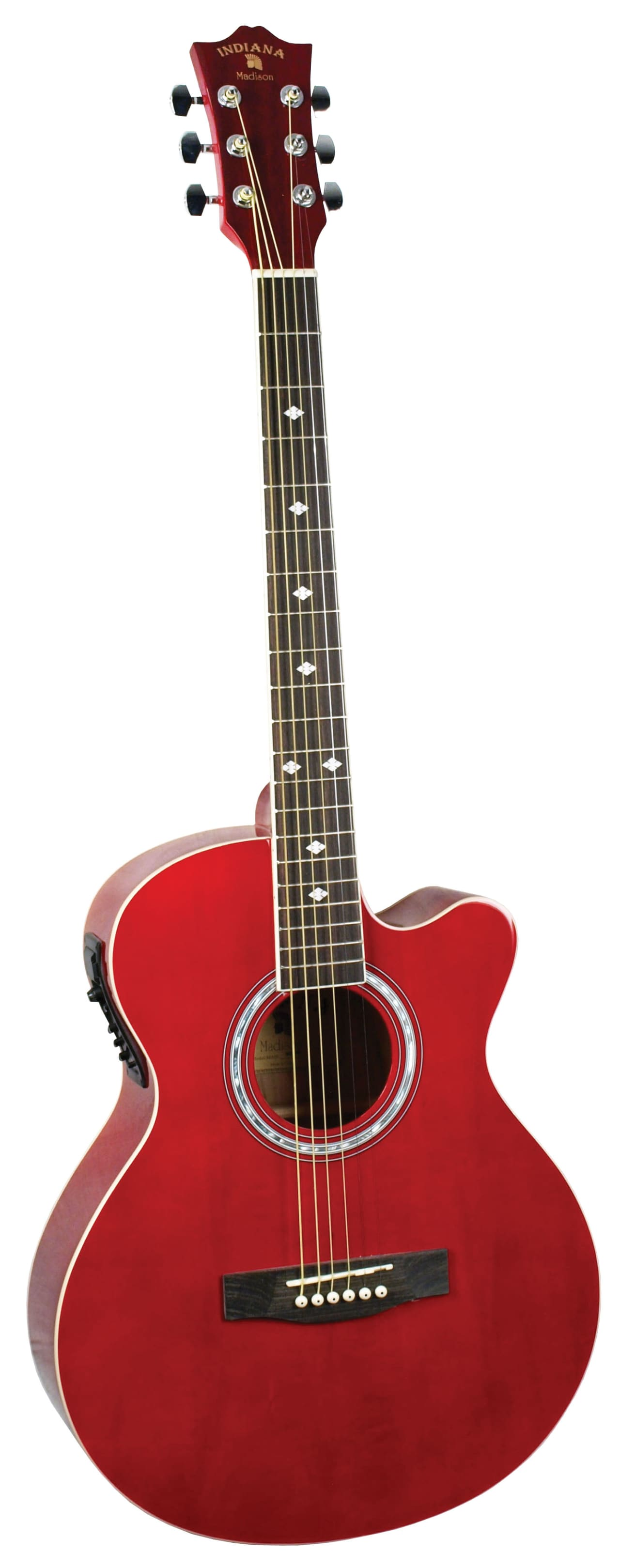 indiana mad rd madison acoustic guitar electric red reverb. Black Bedroom Furniture Sets. Home Design Ideas