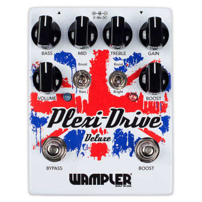 Wampler Plexi-Drive Deluxe Overdrive V2 Distortion Guitar Effects Pedal True Bypass