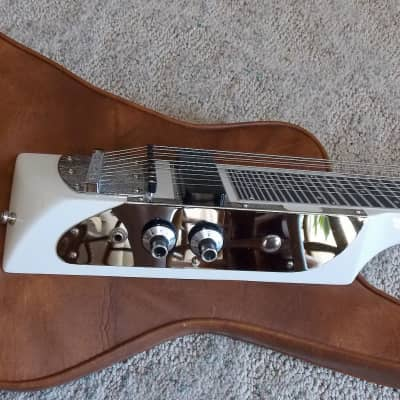 Melobar Powerslide 88 1988 white  6 + 4 string=10 Stand up and ROCK! Lap Steel Slide for sale