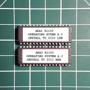 Akai S1100 OS v4.3 EPROM Firmware Upgrade SET
