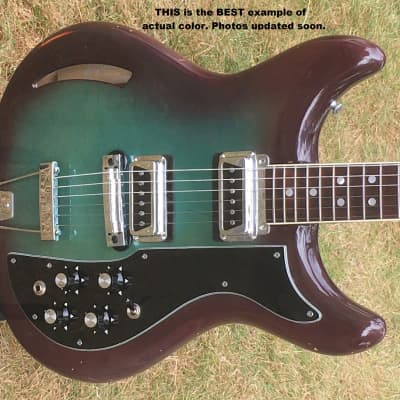 Kustom K 200 Late '60's SEE DETAILS! Cool guitar, GREAT DEAL! psychedelic WINEBURST (please read all for sale