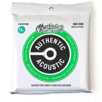 Martin MA130S Marquis Silked Acoustic Guitar Strings 11.5-47