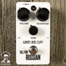 Wren and Cuff Tall Font White Russian Fuzz Pedal - Limited Edition of 10