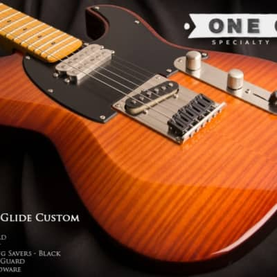 Dean Zelinsky Dellatera Z-Glide Custom Flame Top Vintage Sunburst for sale