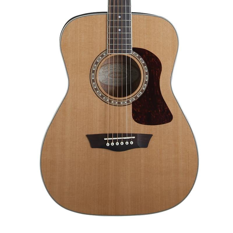 Washburn Heritage F11S Solid Cedar / Mahogany Folk Acoustic Guitar Natural Glos