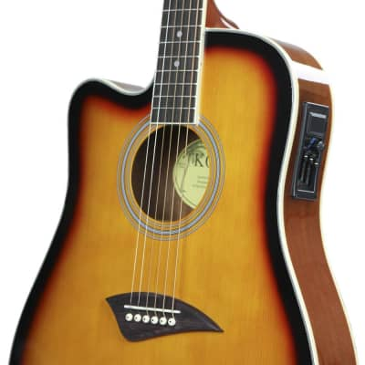 Kona K2 Series Left-Handed Thin Body Acoustic/Electric Guitar for sale