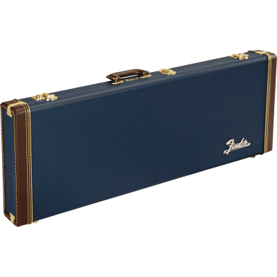 Fender Classic Series Wood Case for Strat & Tele - Navy Blue