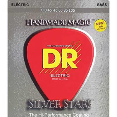 DR Silver Stars Coated Bass Strings 45-105