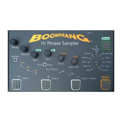 Boomerang III Phrase Sampler Looper Pedal