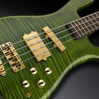 Warwick Masterbuilt Streamer Jazzman, 4-String - Emeraude Green Transparent High Polish for sale