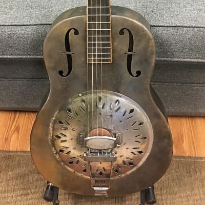 Mule 2017 Single Cone Brass Bodied resophonic guitar for sale