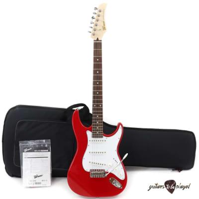 Greco WS-STD Rosewood Fretboard MIJ Strat-Style Electric Guitar w/ Gigbag – Red for sale