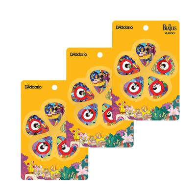 D'Addario Beatles Yellow Submarine 50th Annivesary Pick Pack Medium 3 Pack Bundle