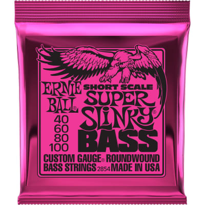 Ernie Ball 2854 Super Slinky Nickel Wound Short Scale Bass Guitar Strings 40-100