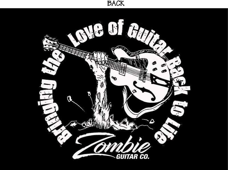 Zombie Guitar Co T Shirt X Large 2018 Black