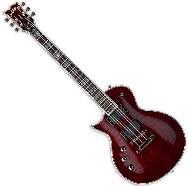 esp ltd ec 1000 stbc lefty guitar in see thru black cherry. Black Bedroom Furniture Sets. Home Design Ideas
