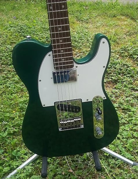 2001 squier standard telecaster metallic green finish reverb. Black Bedroom Furniture Sets. Home Design Ideas