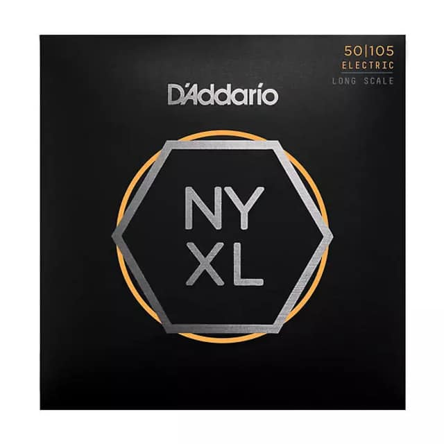 2 Pack! D'Addario NYXL50-105-2 Set Long Scale, Med 50-105 image