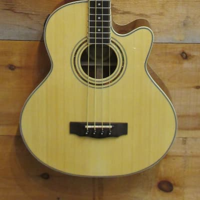 Jay Turser Acoustic Electric 4 String Bass Guitar JTB-D100 Natural NEW for sale