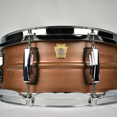"""Ludwig LC661 Raw Copper Phonic 5x14"""" Snare Drum"""