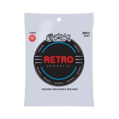Martin MM12 Retro Light Acoustic Guitar Strings. 12-54