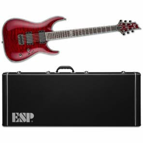 ESP LTD LTD H-1000 QM NT See Thru Black Cherry STBC Electric Guitar + FREE ESP Hardshell Case for sale