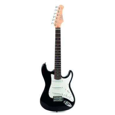EKO music S-100 3/4 Stratocaster 6cuerdas Nero, Bianco – guitars (6 corde) for sale