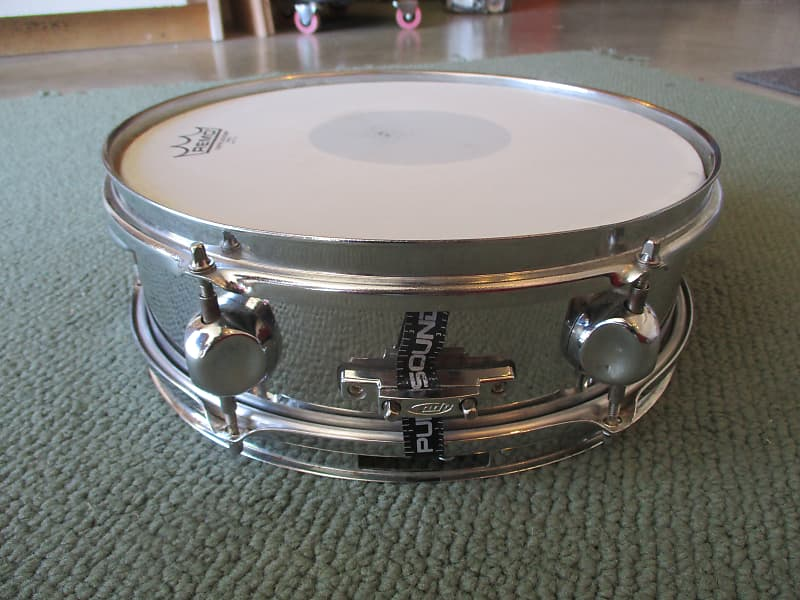 pacific pdp 13 x 3 5 chrome piccolo snare drum pro heads reverb. Black Bedroom Furniture Sets. Home Design Ideas
