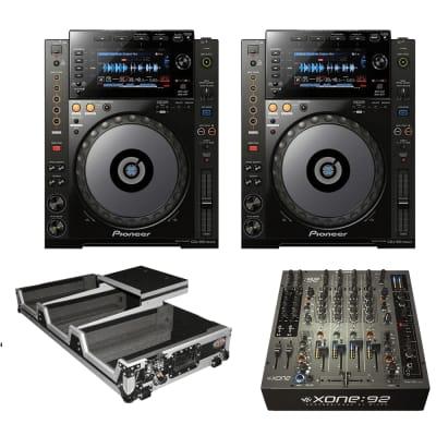 Allen & Heath XONE:92S Professional Six-Channel Club Install DJ Mixer + (2)  Pioneer DJ CDJ-900NXS High-Resolution Pro-DJ Multi-Player (Black) and PROX XS-CDM2000WLT DJ FLIGHT COFFIN
