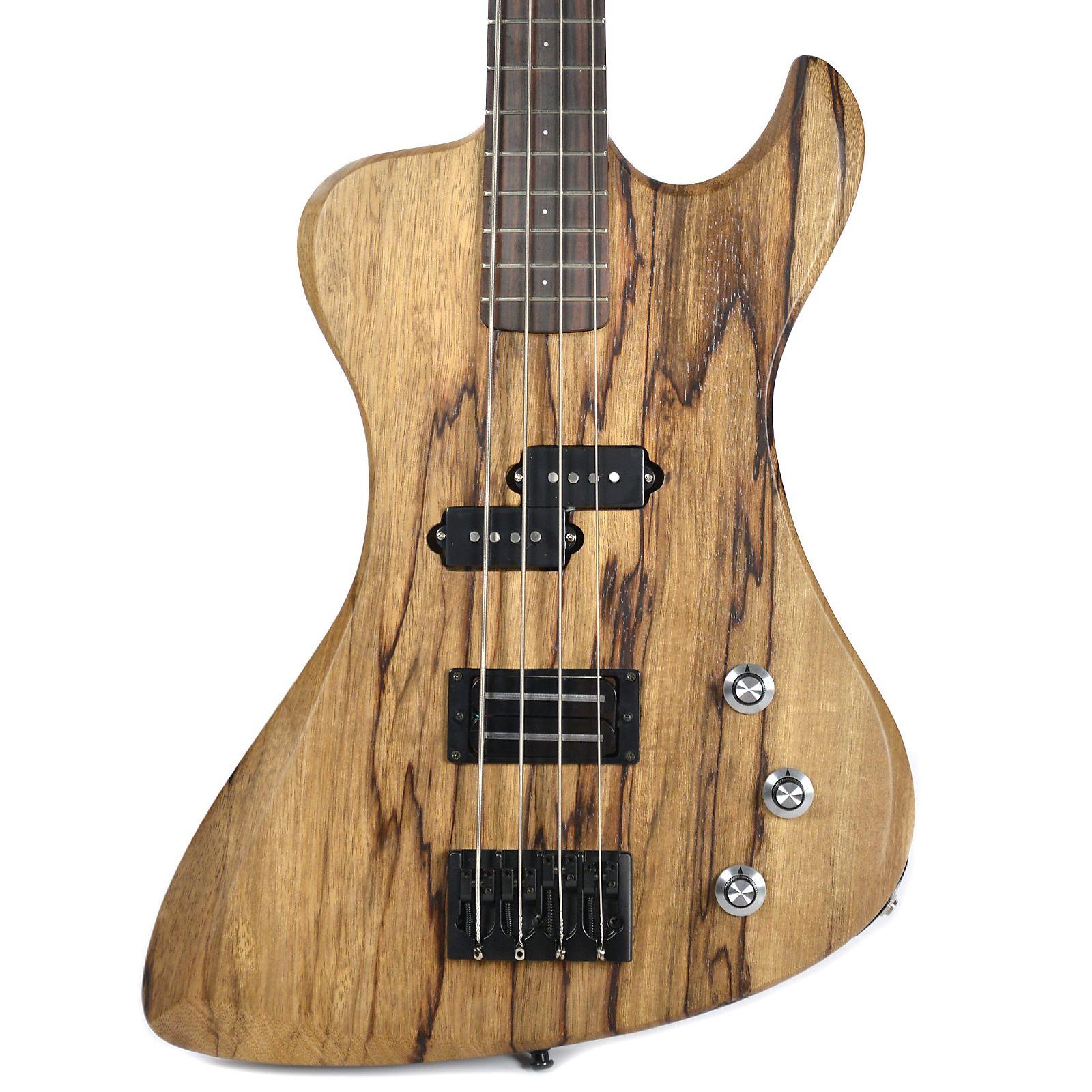 Dunable R2 Bass Black Limba w/Bigfoot Humbucker & Reverse P-Style Pickup  (Serial #1790)