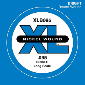 D'Addario XLB095 Nickel Wound Bass Guitar Single String Long Scale .095