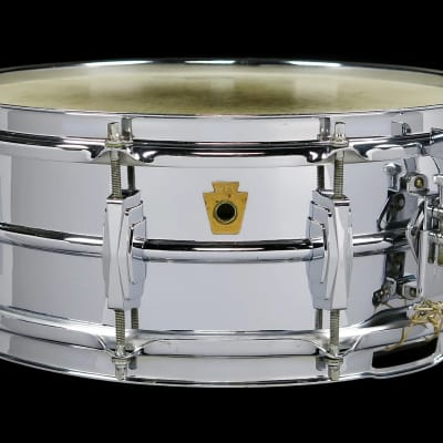 "WFL No. 400 Super-Ludwig 5x14"" 10-Lug Brass Snare Drum 1958"
