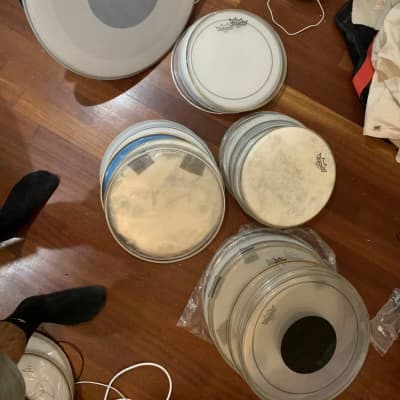 Lot of Drumheads Remo Evans New + Used