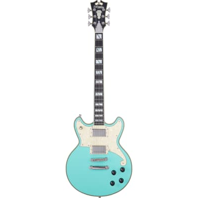 D'Angelico Deluxe Brighton Matte Surf Green Limited Edition Electric Guitar with Case for sale