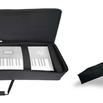 Rockville 61 Key Keyboard Case w/ Wheels+Trolley Handle For Korg X3