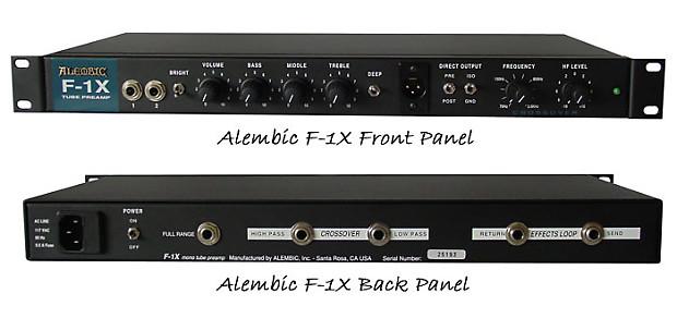 Alembic F-1X Black Preamp | Muzikom
