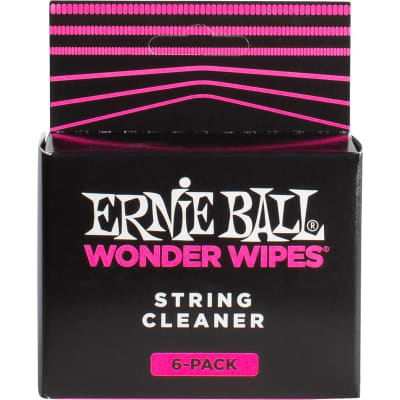 Ernie Ball 4277 Wonder Wipes String Cleaner, 6 Pack for sale