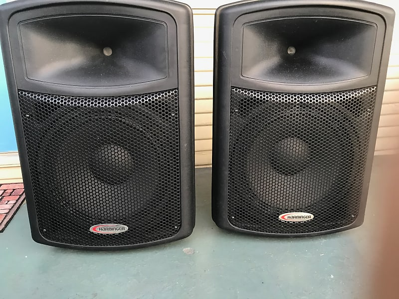 harbinger aps15 15in powered pa speakers black reverb. Black Bedroom Furniture Sets. Home Design Ideas