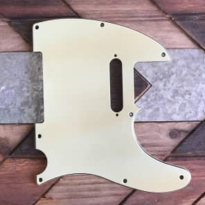 Real Life Relics Tele Telecaster Pickguard 3 ply 8 hole Mint Green Aged with pickup screw holes