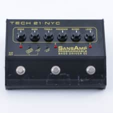 Tech 21 Programmable Bass Driver DI EQ / DI Box Guitar Effects Pedal P-04876