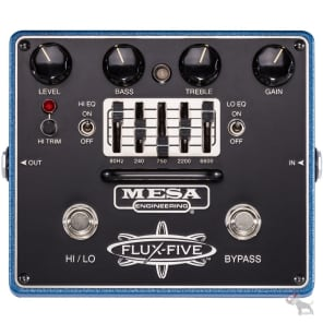 Mesa/Boogie Flux-Five Overdrive Guitar Effect Pedal with Graphic EQ and HI/LO Mo for sale