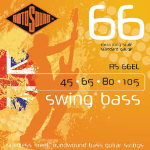 Rotosound RS66EL Swing 66 Bass Extra Long Heavy Bass Strings 45-105