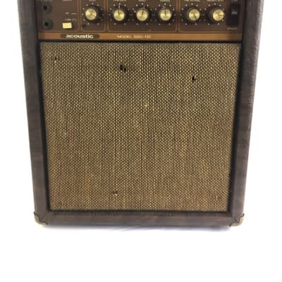 Super Rare Acoustic G20-110 Guitar Amp Solid State Reverb 1981 Free USA Shipping Brown Tolex
