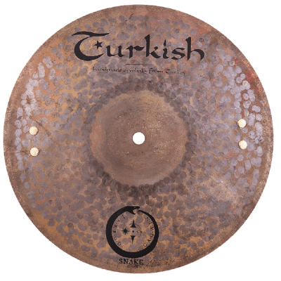 """Turkish Cymbals Jarrod Cagwin Soundscape Series 12"""" Snake Hi-Hat Cymbals * SN-H12"""
