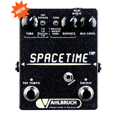 Vahlbruch SpaceTime Delay Tap Tempo, black knobs, MagTraB switching, NEW, made in Germany